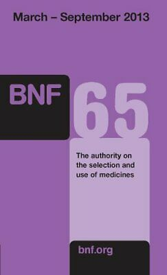 British National Formulary (BNF) 65 Book The Cheap Fast Free Post
