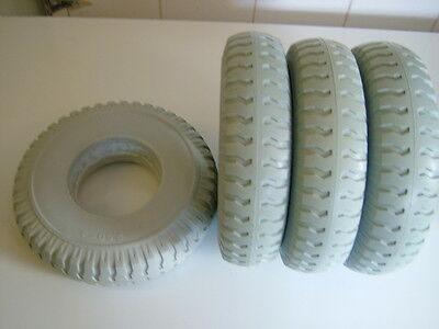Set Of Four 2.50-4 Puncture Proof Mobility Scooter Tyres. Brand New Colour Grey.
