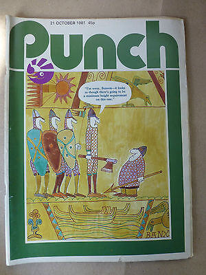 PUNCH MAGAZINE 21st OCTOBER 1981 - Birthday Present Idea BAYEUX TAPESTRY