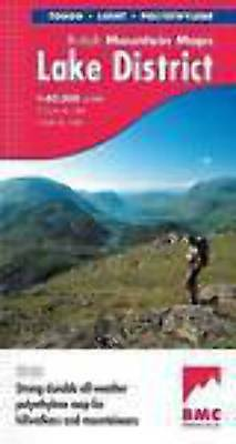 Lake District BMC British Mountain Map 1:40 000