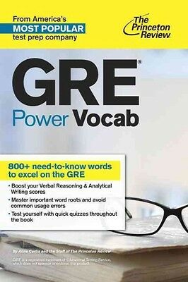 GRE Power Vocab by Princeton Review Paperback Book (English)