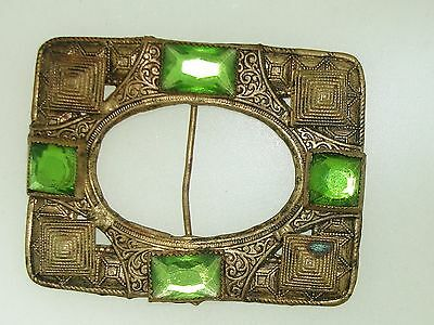 Beautiful Antique Egyptian Revival Gold Washed Egyptian Revival Sash Buckle!