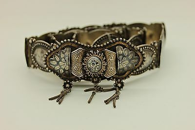 Antique Original Perfect Silver Niello Islamic Ottoman Traditional Belt