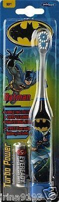 Batman Kids Boy`s Turbo Power Battery Powered Toothbrush Age 2-6years
