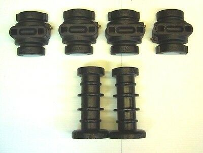 "Disc Harrow Axle Kit - 2 Ribbed Spools & 4 Bearing Halves 7 1/2"" Long 1"" Square"