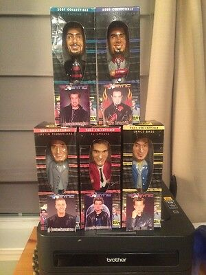 NEW-ENTIRE SET OF Nsync 2001 COLLECTIBLE BOBBLE HEAD DOLLS 5 TOTAL BEST BUY