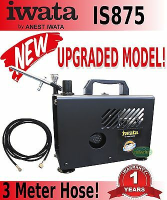 New Iwata Is875 Smart Jet Pro Compressor Power Tank Spray Art Pressure Psi