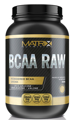 Matrix Nutrition Bcaa Powder Raw 2:1:1 Drink All Flavours & X2 - 500G