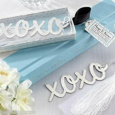 1PC HOT Stainless Steel XOXO Personalised Bookmark Silver Tone Present Gift