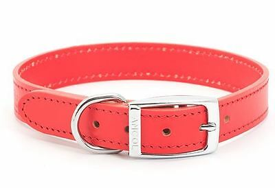 "Ancol Heritage Red Leather Dog Collar 24"" / 60cm"