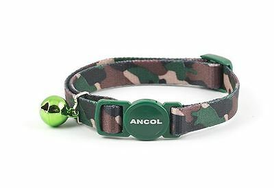 Ancol Camouflage Cat Collar Green with Safety Buckle