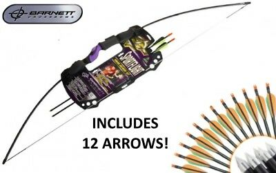 Barnett Sportflight Adult Archery Kit 25lb Draw Recurve Bow - With 12 Arrows!
