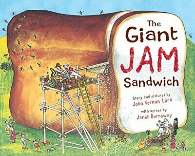 The Giant Jam Sandwich by Burroway, Janet Paperback Book The Cheap Fast Free