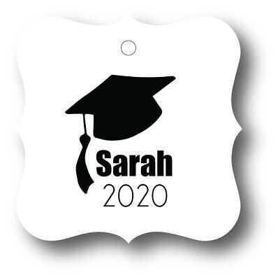 2019 Graduation Cap Personalized Party Favor Tag - 24 Tags