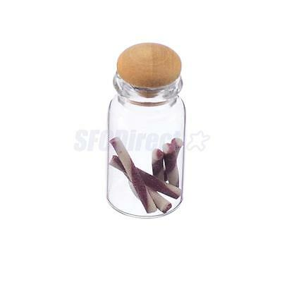 dollhouse miniature glass jar of candy canes with openable wood lid