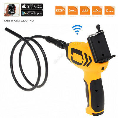 720P HD Wifi 9mm Endoscope Snake Camera Car Inspection Video Cam For Ios,Android