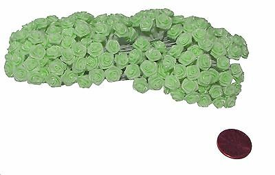 144 Silk Mini Wrap Roses Wedding Shower Flower Picks - mint green