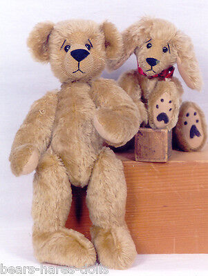 "Artist PDF E-Patterns for Jointed 12"" Teddy Bear & 10"" Puppy"