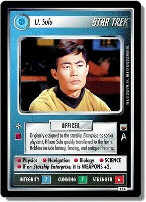 Star Trek CCG TwT Trouble with Tribbles Lt. Sulu 67R