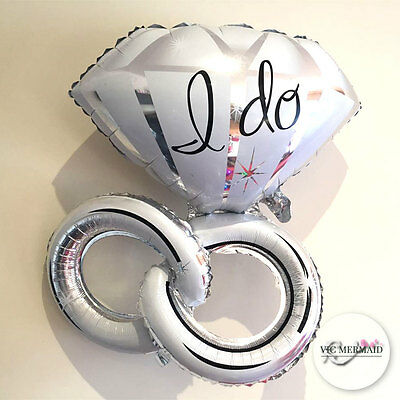 Double Ring I Do Foil Helium Balloons Wedding Valentines Table Decorations Large