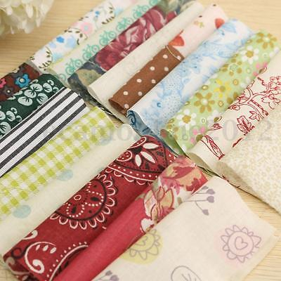 100 Patchwork Cloth 10cm Square Vintage Floral Cotton Fabric DIY Craft Sewing
