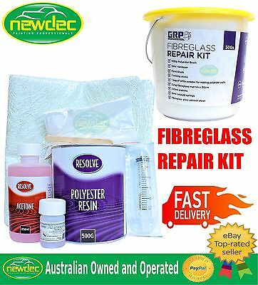 FIBREGLASS REPAIR KIT FOR AUTOMOTIVE MARINE PANEL BODY KITS REPAIR MAT 500g