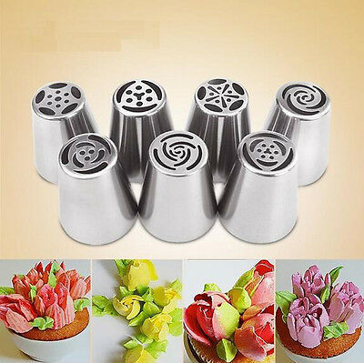New Icing Piping Nozzles Tips For Cake Sugar Craft Fondant Pastry Decor 7 Modle