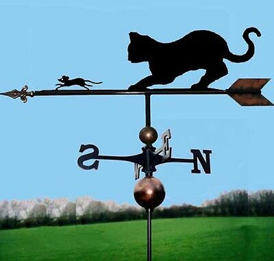 Cat & Mouse Weathervane - Handmade  - Very High Quality