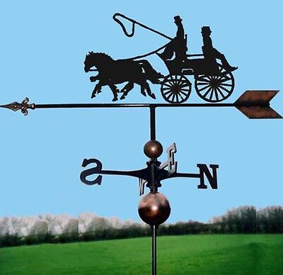 Coach & Two Horse Weathervane - Handmade  - Very High Quality