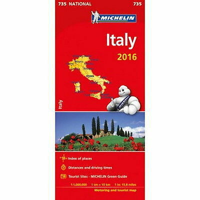 Italy Michelin National Map 735 Motoring and Tourist
