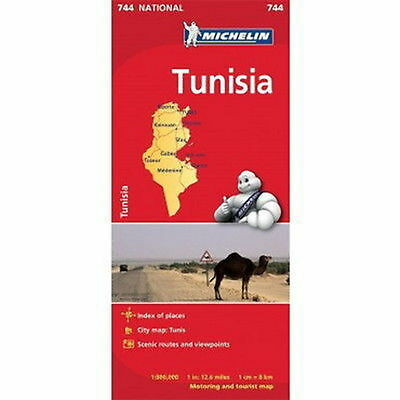 Tunisia Michelin National Map 744 Motoring and Tourist