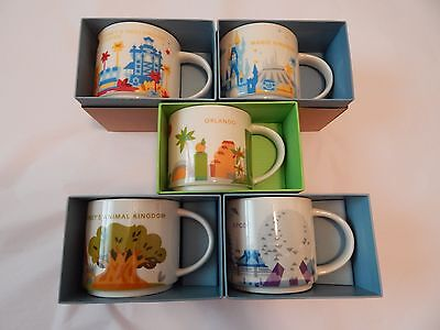 Starbucks Disney World You Are Here Mugs With Orlando Mug Brand New With Boxes