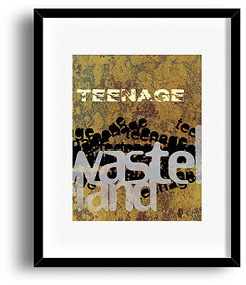THE WHO Music Art Poster BEHIND BLUE EYES 70s Classic Rock Song Lyrics Art