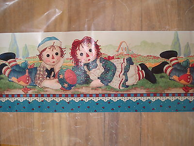 Classic Raggedy Ann Andy Daisy Kingdom Wallpaper Border 40+ Feet EXCELLENT Cond!