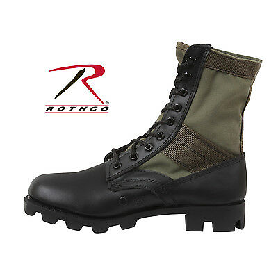Rothco GI Style Jungle Boots--Olive Drab Canvas Uppers--SIZE 12R