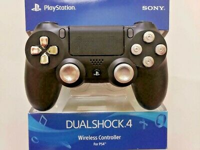 Sony Ps4 Playstation 4 Black With Chrome Controller.............brand New