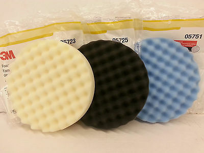 3M Perfect-It Buffing Pad Kit * 1 pad each: 05723, 05725 & 05751 *