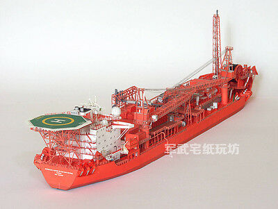 3D DIY Paper Model 1/400 Norway Floating Production Storage and Offloading FPSO