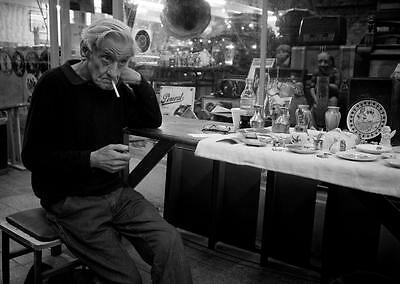 Old Photo. Old Man Selling Antiques