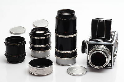 Hasselblad 1000F Outfit w. Zeiss 2.8/80mm, 3.5/135mm & 5.6/250mm