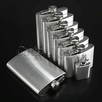 Pocket Stainless Steel Hip Flasks Liquor Whiskey Alcohol Drink Flagon Keychain