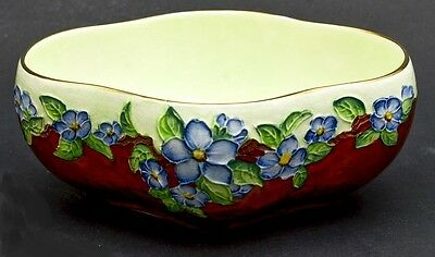 Beautiful Rare Hand Painted Floral British 'Mailing' Art Deco Bowl