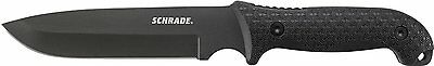SCHRADE Black Full Tang Straight Fixed Frontier Survival Knife w/ Sheath SCHF52