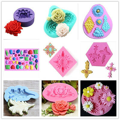 Silicone Fondant Gum Paste Mold Cake Decorating Tools DIY Resin Jewelry Crafts
