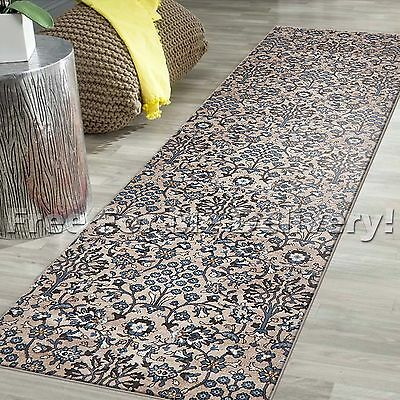 LEGACY VINTAGE STYLE BEIGE TRADITIONAL RUG RUNNER 80x300cm **FREE DELIVERY**