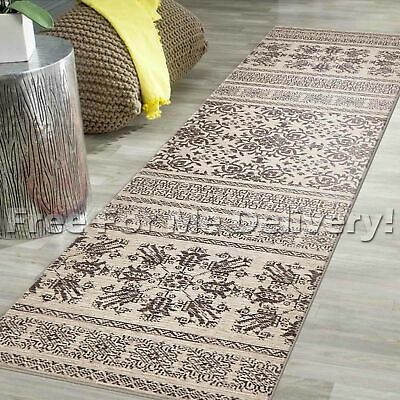 LEGACY VINTAGE STYLE CREAM TRADITIONAL RUG RUNNER 80x300cm **FREE DELIVERY**