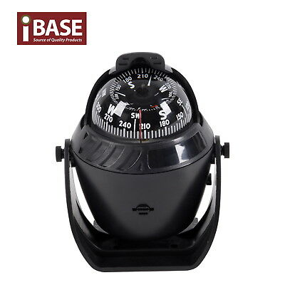 Compass Illuminated 12V Led Caravan Marine Boat Car Trucks Navigation Black New