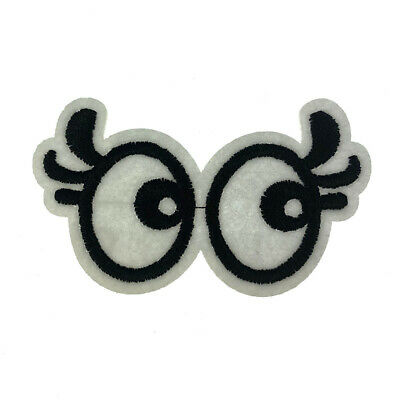 White Glasses Eyes Embroidered Sew on Iron on Patch Badge Patches Applique