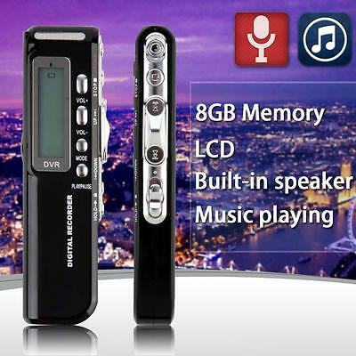 Mini 8GB Digital Audio Voice Recorder USB Rechargeable Dictaphone MP3 Player TR