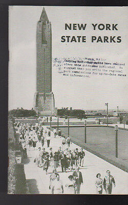 New York State Parks 1942 Booklet With Fold-Out Map